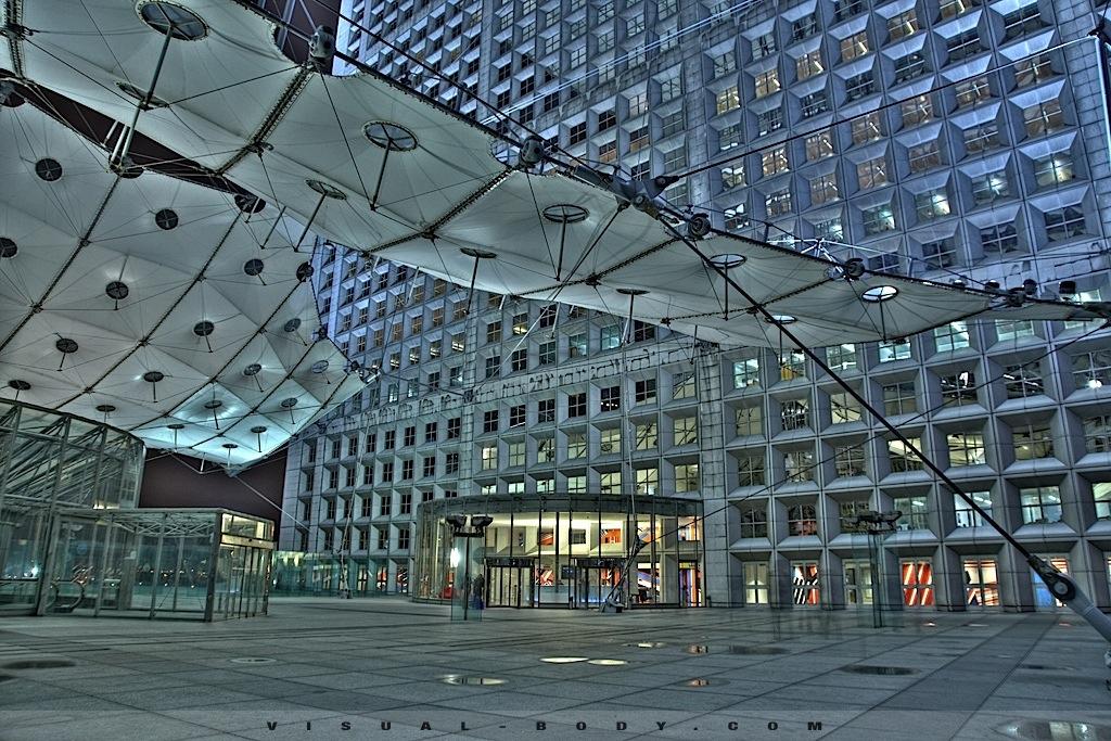 Arche de la Défense en HDR, Paris