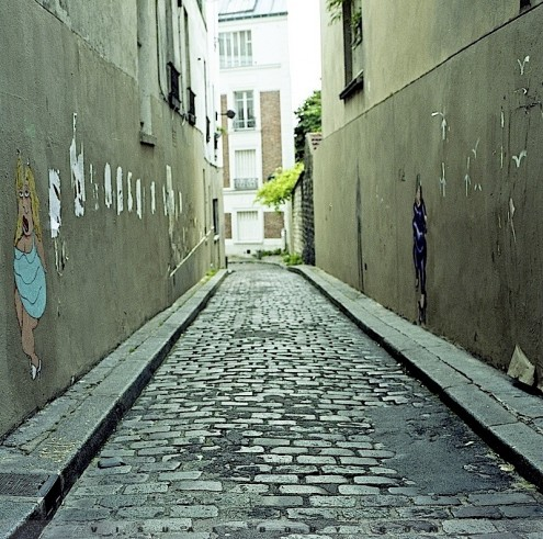 Ruelle de Montmartre, Paris
