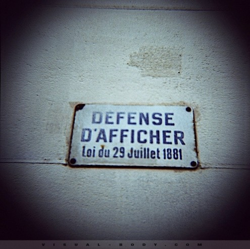 Defense d&#039;afficher