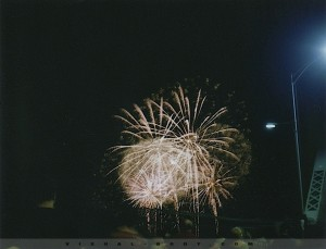 Feux d'artifices - Polaroid
