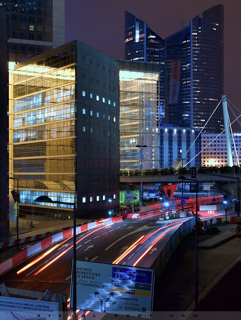 Routes et batiments, Paris la Defense