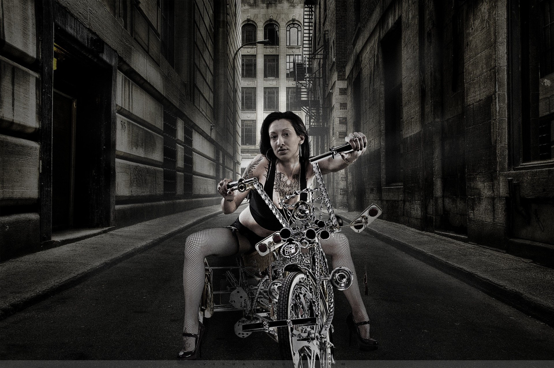 Urban Life I - La bikeuse