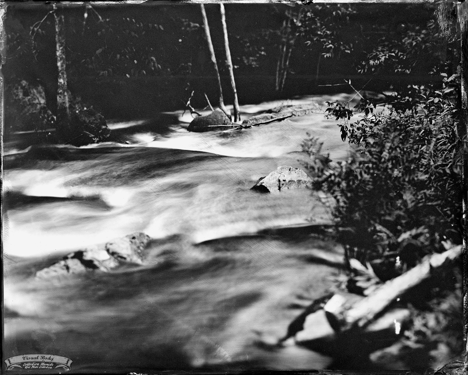 "Rivière du Nord / North River. Tintype. 8x10"". f/11. 4s"