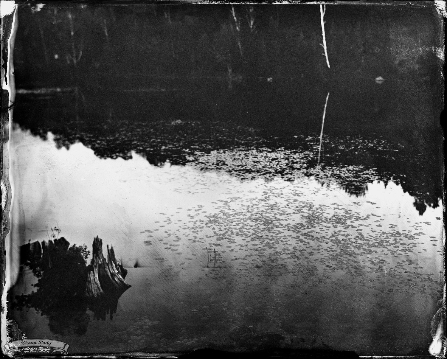 "Rivière du Nord / North River. Tintype. 8x10"". f/8. 10s."