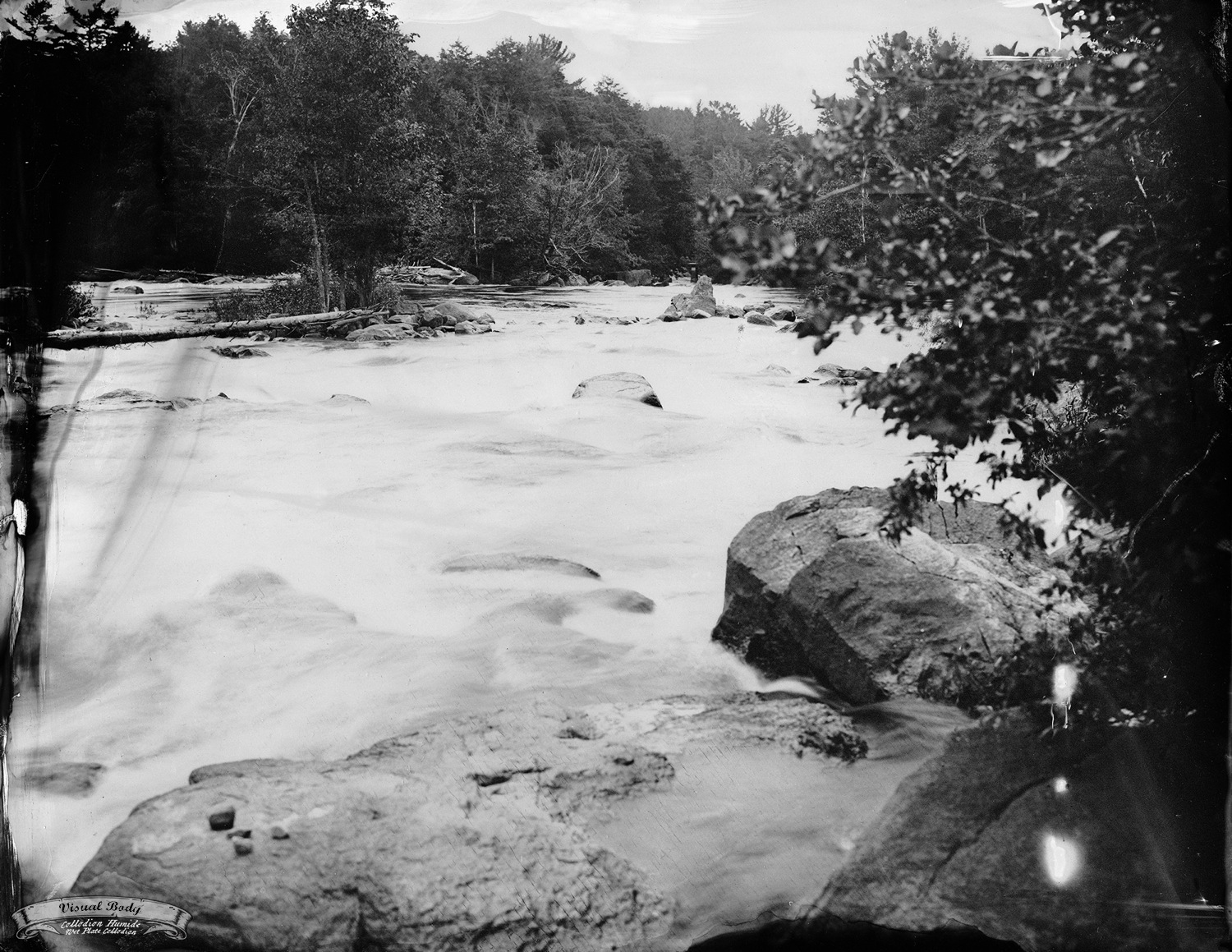 "Rivière du Nord / North River. Tintype. 8x10"". f/16. 2s"