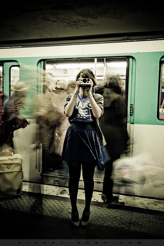 Bambie dans le métro
