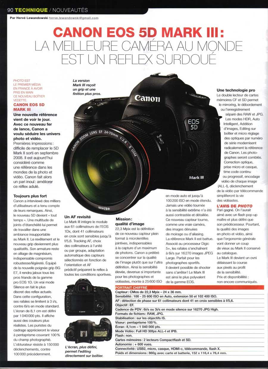 Article Canon 5D Mark III